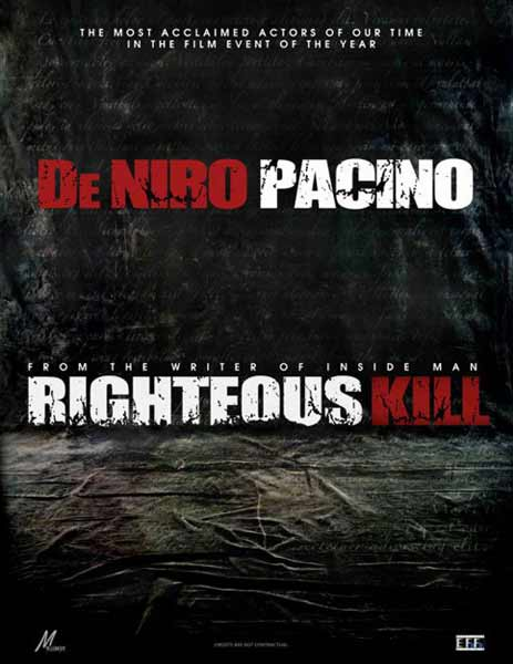 Righteous Kill (2008) - Movie Poster