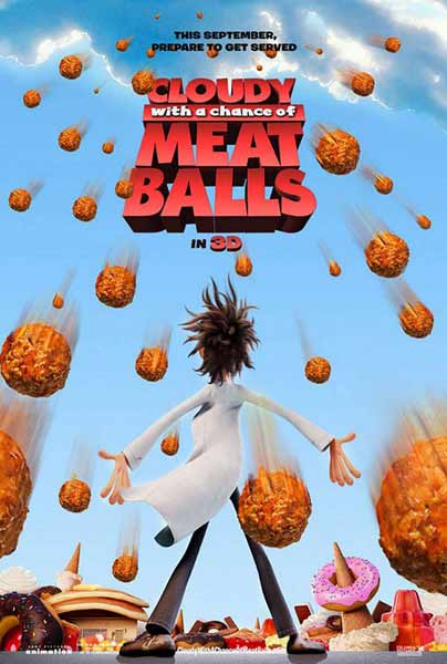 Cloudy with a Chance of Meatballs (2009) - Movie Poster