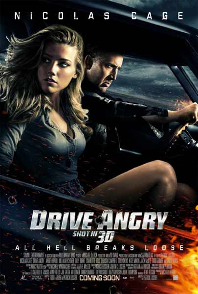 Drive Angry 3D (2011) - Movie Poster