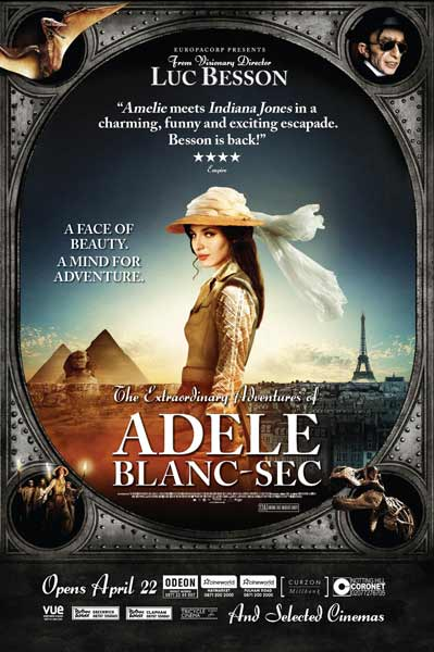 Extraordinary Adventures of Adèle Blanc-Sec, The (2010) - Movie Poster