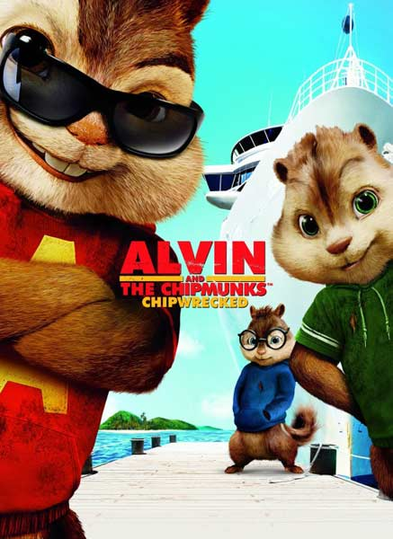 Alvin and the Chipmunks: Chip-Wrecked (2011) - Movie Poster