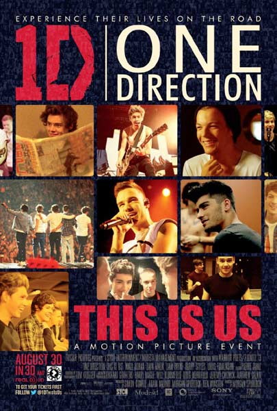 One Direction 3D Movie (2013) - Movie Poster