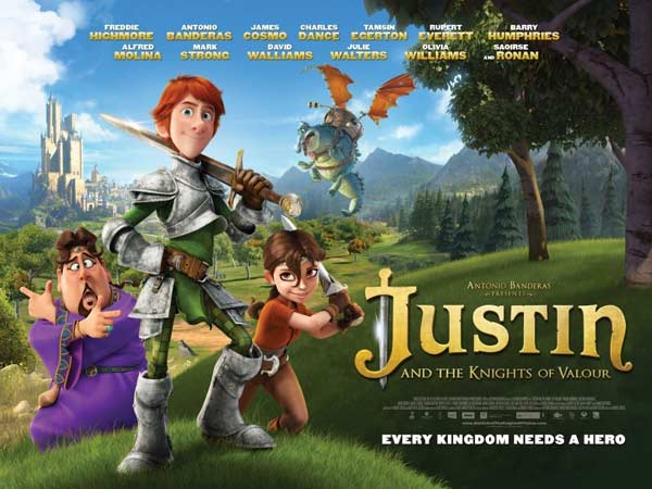 Justin and the Knights of Valour (2013) - Movie Poster