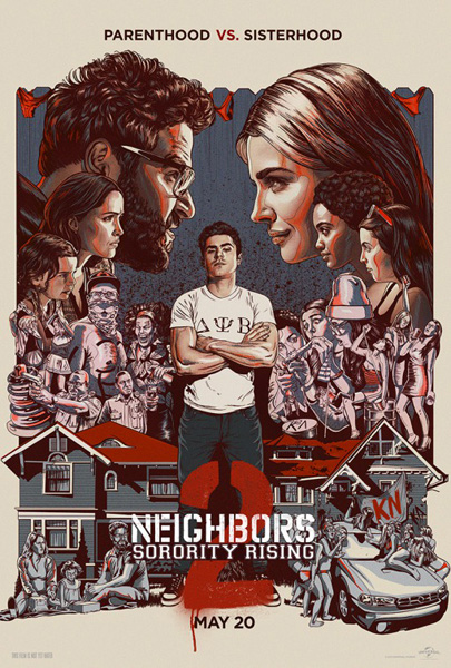 Neighbors 2: Sorority Rising (2016) - Movie Poster
