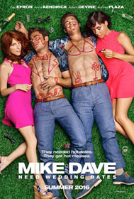 Mike and Dave Need Wedding Dates (2016) - Movie Poster