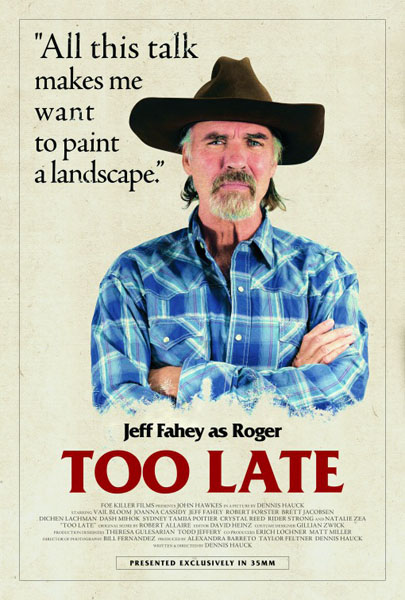Too Late (2015) - Movie Poster