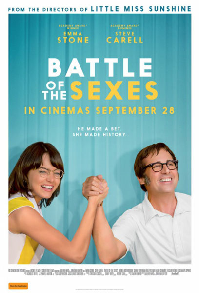 Battle of the Sexes (2017) - Movie Poster
