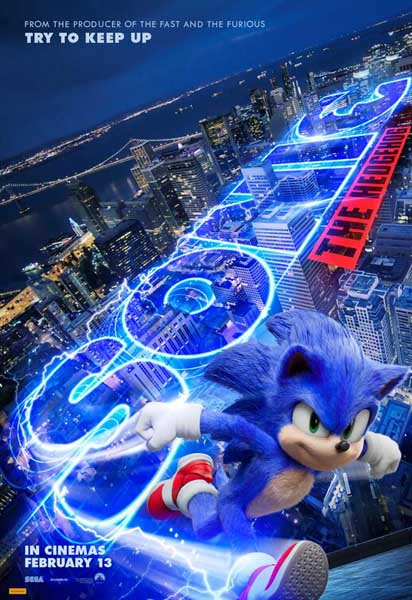 Sonic the Hedgehog (2019) - Movie Poster