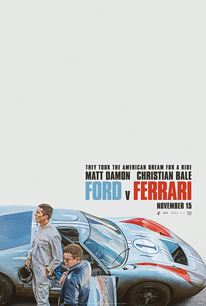 Ford v Ferrari (2019) - Movie Poster