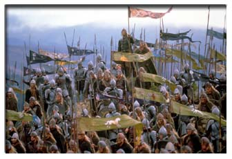 The Rohan and Gondor armies
