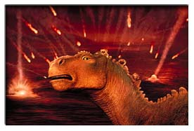 Aladar with comets in background - Dinosaur (2000)