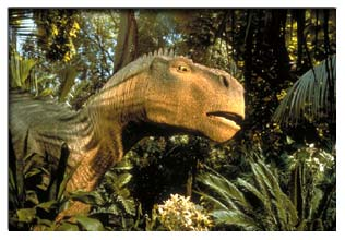 Appearing from the jungle - Dinosaur (2000)