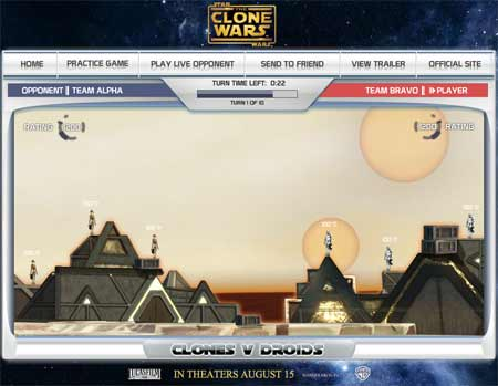 Try the 'Clones Vs Droids' game at www.clonesvdroids.com/